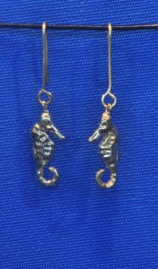 aquatic earrings seahorses