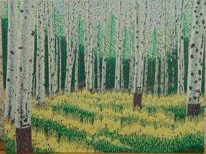 aspen grove 2013 acrylic 42.5X32.5